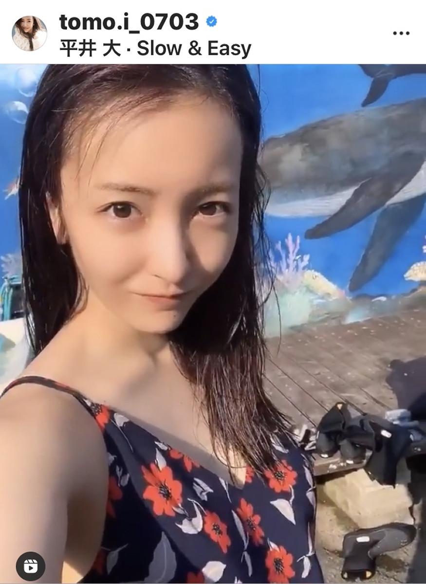 板野友美、初ダイビングを公開 肩出しキャミワンピに「海が似合う」「えぐかわ」の声(スポーツ報知) - Yahoo!ニュース