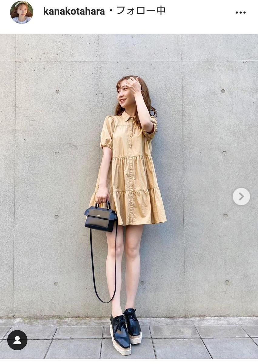 田原俊彦の長女・田原可南子、ミニワンピの私服姿を披露し「足の細さにビックリ」「めっちゃ綺麗」(スポーツ報知) - Yahoo!ニュース