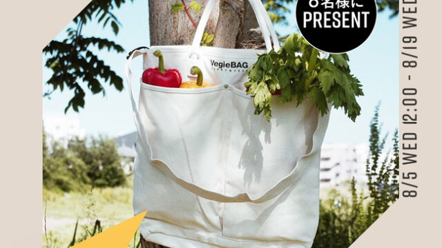 GLADDがサスティナブルな暮らしを応援!「いいね&フォロー」するだけで、野菜をおしゃれに持ち運べるショッピングバッグVegie Bagがもらえる!:時事ドットコム