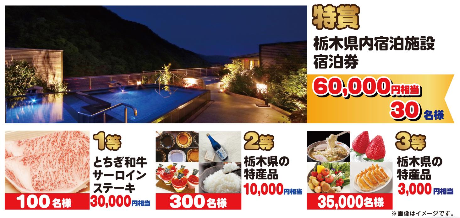 とちぎに泊まろうキャンペーン実施 宿泊券6万円や特産品が3万5000人に当たる | OVO [オーヴォ]