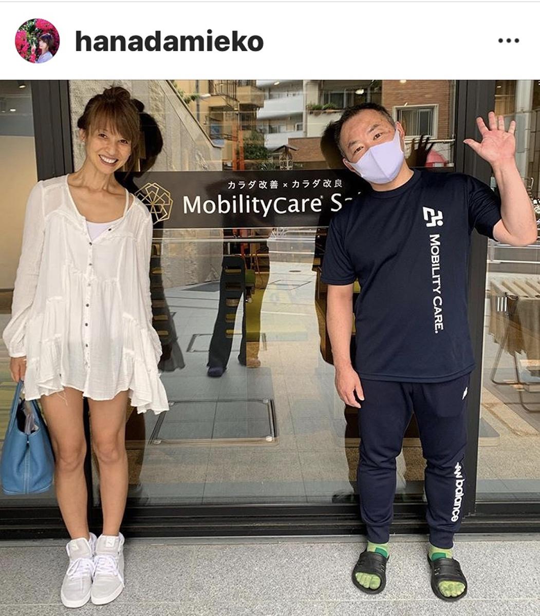 花田美恵子、180度開脚ショットに「めっちゃ柔らかい」「体脂肪率3%って感じ?」と驚きの声 : スポーツ報知