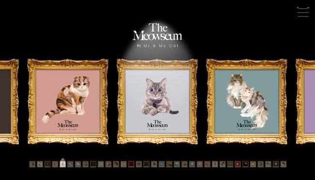 世界中の愛猫家が集まる、愛猫たちの肖像画展「 The Meowseum(ミャオジアム)」9月30日よりオンラインで開催:時事ドットコム