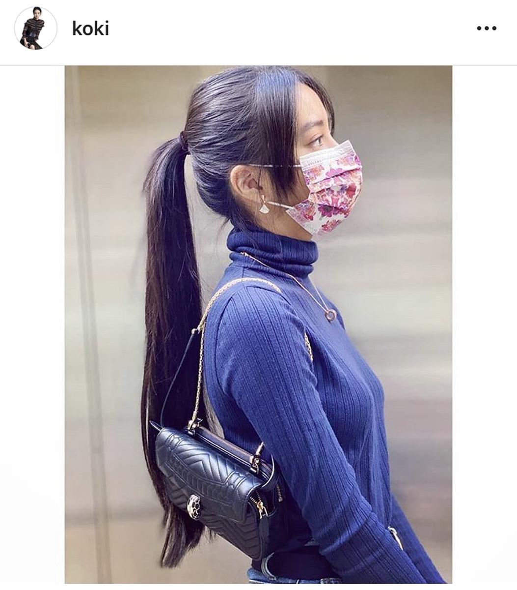 Koki,「可愛くて捨てられない」おしゃれな使い捨てマスクを公開 : スポーツ報知