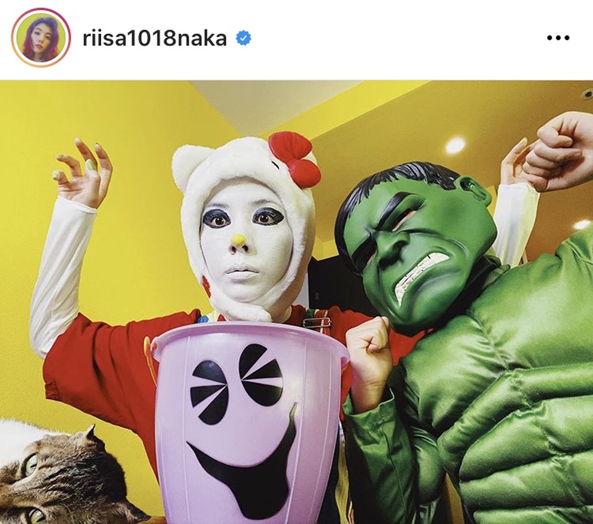 仲里依紗、キティちゃんメイクで仮装も「この写真は間違い探しです なにかが違う」 : スポーツ報知