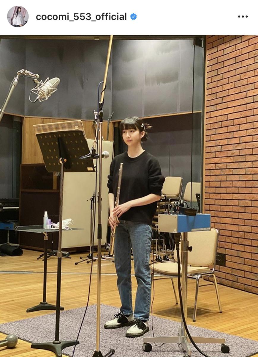 Cocomi、スタジオでのフルート奏者姿を公開「ドキドキしました!勉強になりました」 : スポーツ報知