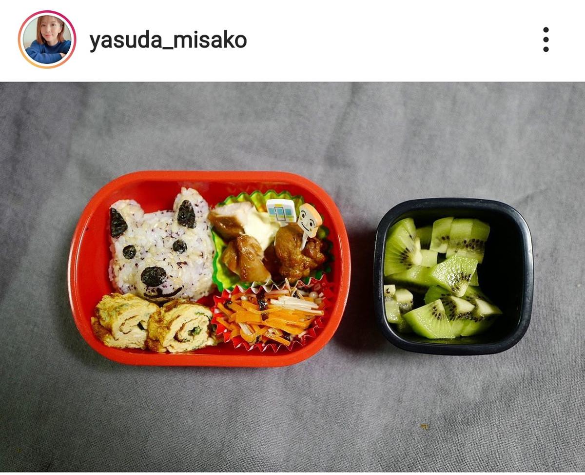 """安田美沙子、3歳息子に""""立体的な犬""""のおにぎり弁当「犬がリアル」「わんこが可愛すぎ」 : スポーツ報知"""