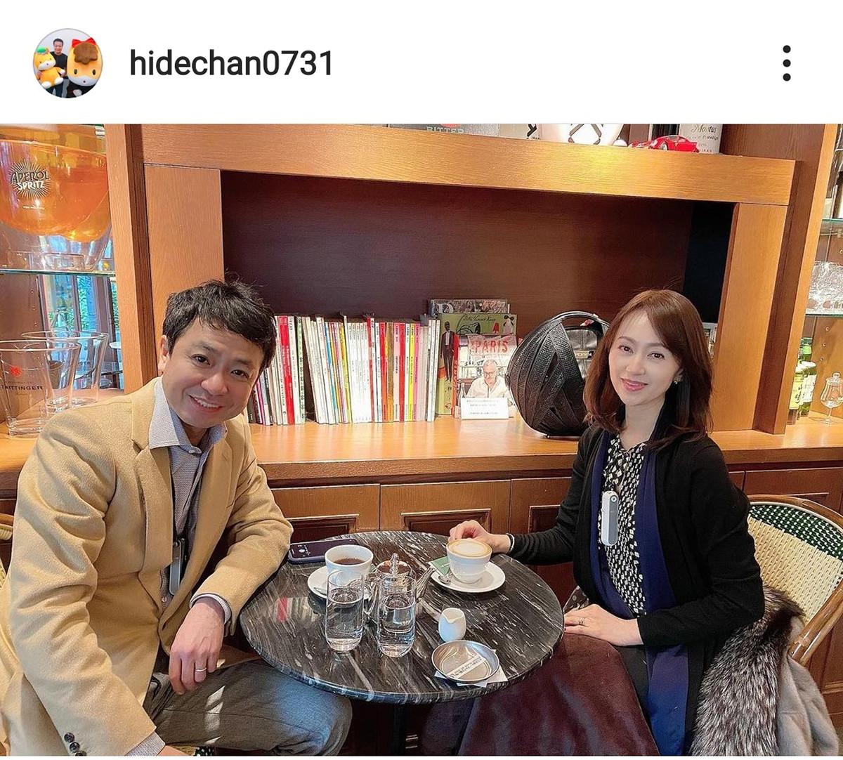 中山秀征、元宝塚の美人妻との2ショットを公開「本当にお美しい」「美男美女夫婦」 : スポーツ報知