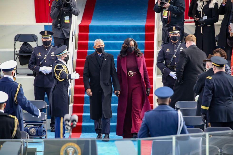 ポイントは「硬貨」!ミシェル・オバマが大統領就任式で着用したコートの制作秘話(ハーパーズ バザー・オンライン) - Yahoo!ニュース