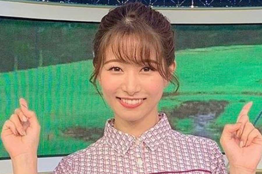 フジ海老原優香アナ、元気が出るビタミンカラーのワンピース姿披露「リボンも可愛い」   ENCOUNT
