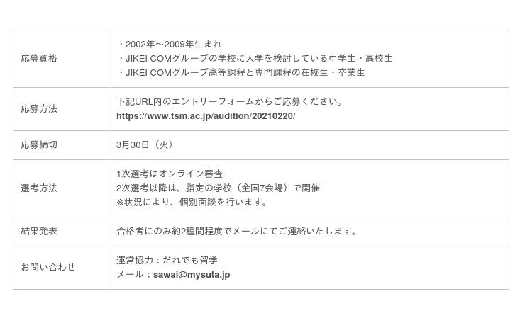 K-POPオンライン合同オーディション Supported by JOY DANCE ACADEMY 開催:時事ドットコム